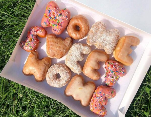 Letter (Alphabet) Donuts in Toronto from Machino Donuts image credit @julesjlceats