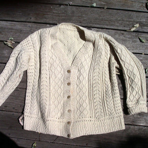 A home made sweater.