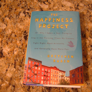 """""""The happiness project"""" by Gretchen Rubin."""