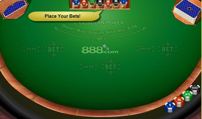 carribean stud poker op internet