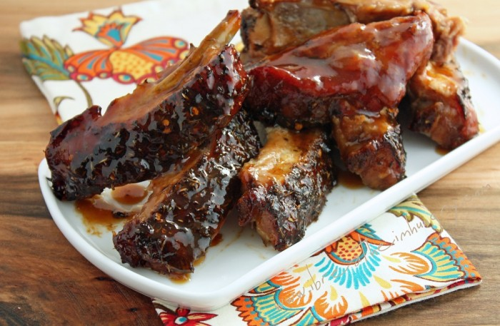 Jerk BBQ Ribs by ibreatheimhungry.com