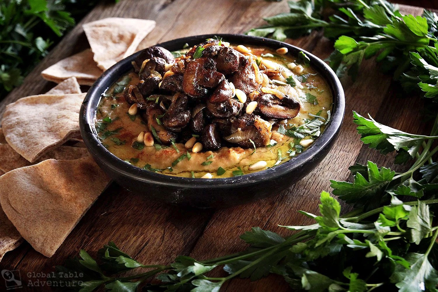 hummus-with-caramelized-onion-and-mushroom-by-GlobalTableAdventure