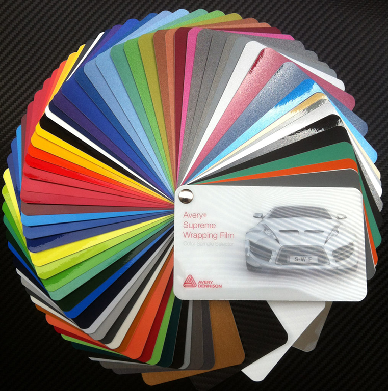avery swatch long island vinyl wrap color change film car wrapping