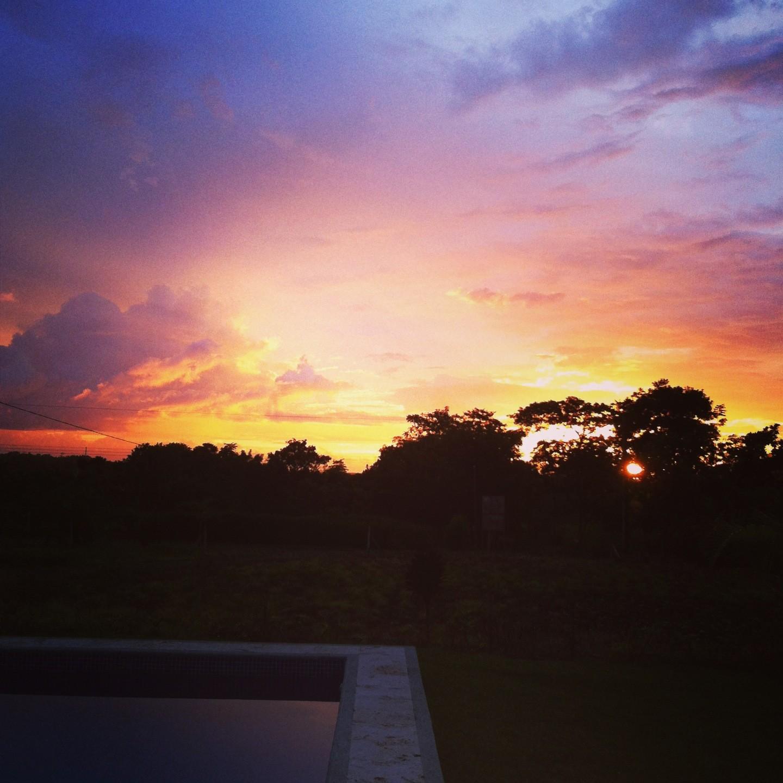trogon villa sunset view