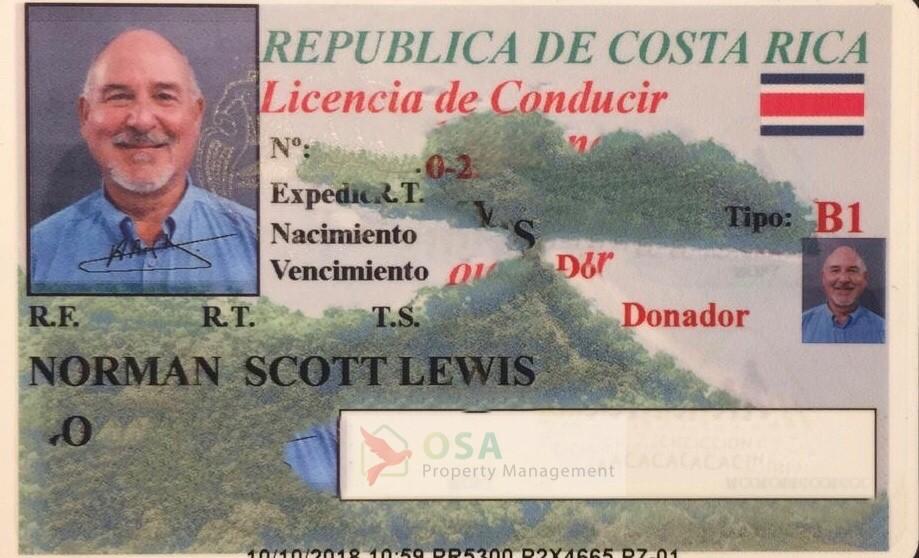 costa rica drivers license