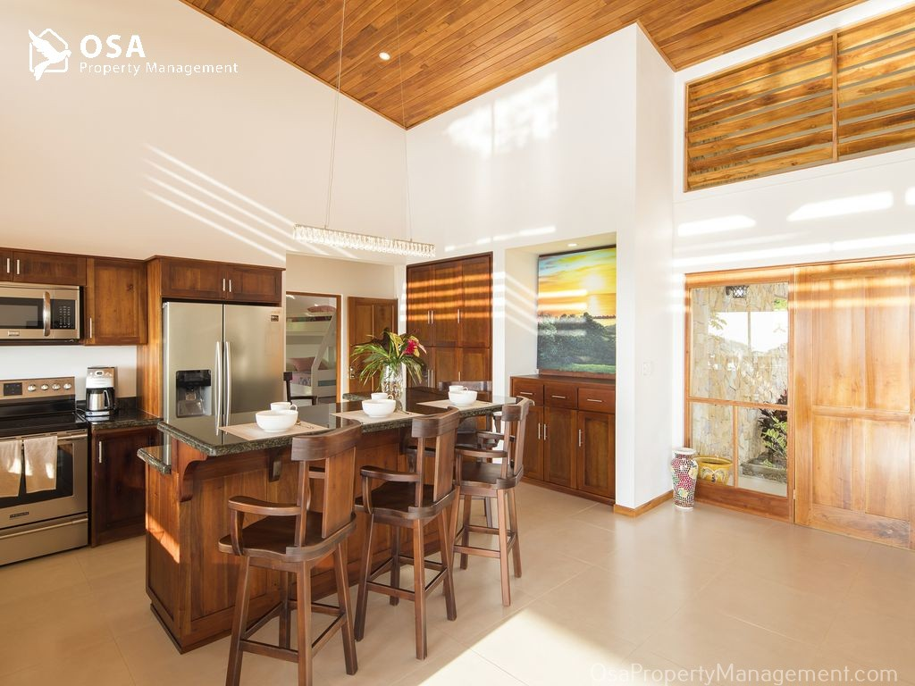 villa cascadas kitchen