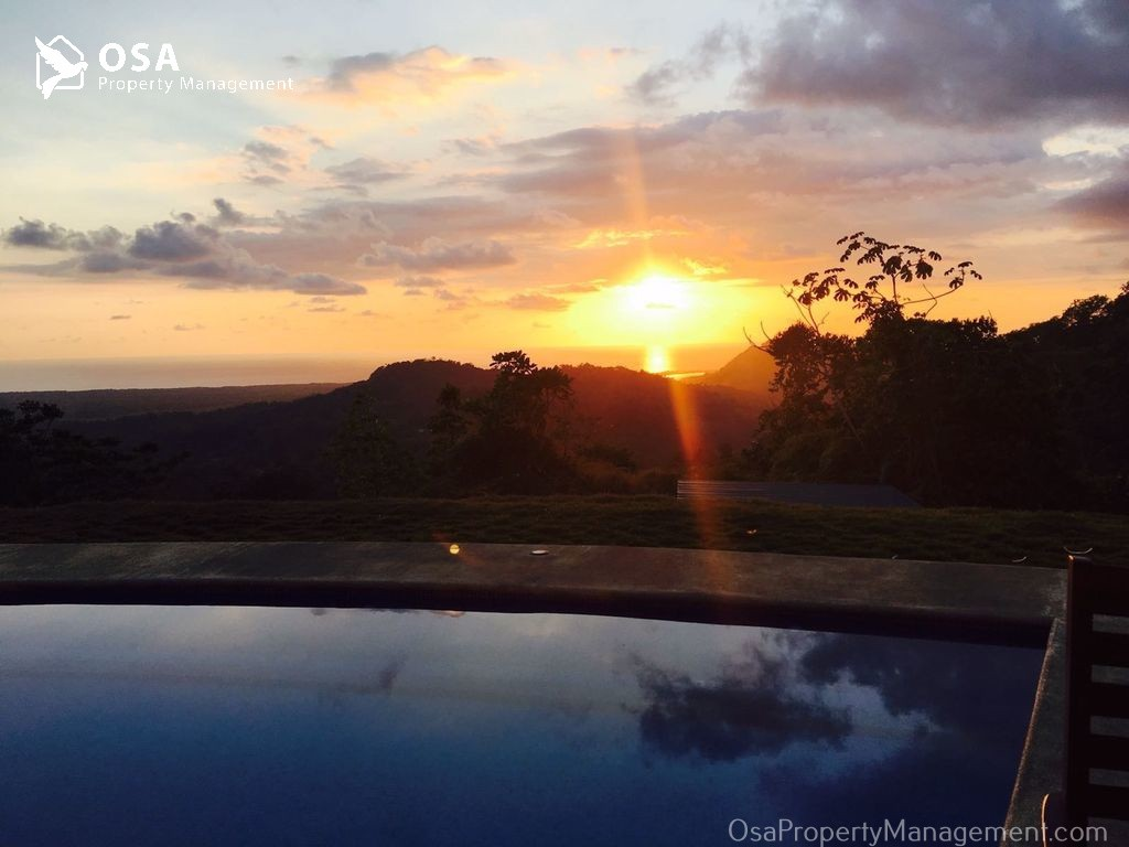 costa rica vacation rental tres rios osa sunset