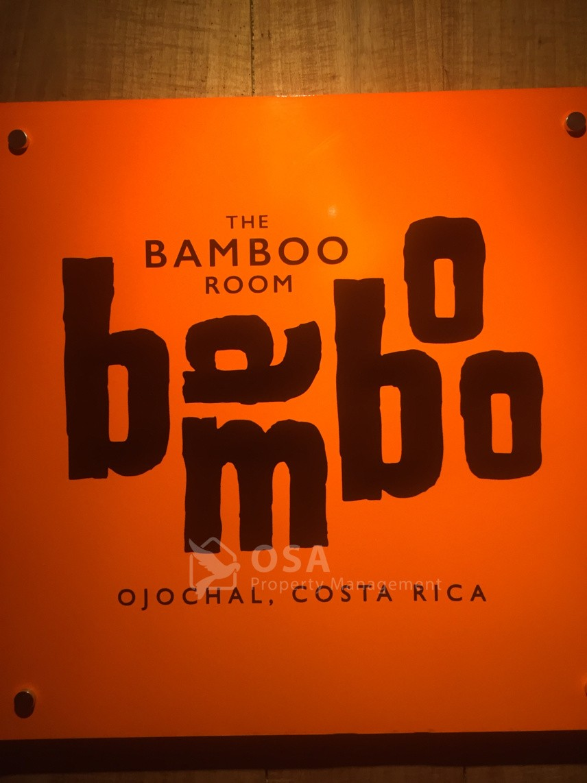 bamboo room ojochal sign