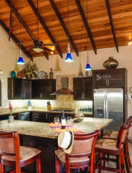 casa aventura ojochal kitchen island