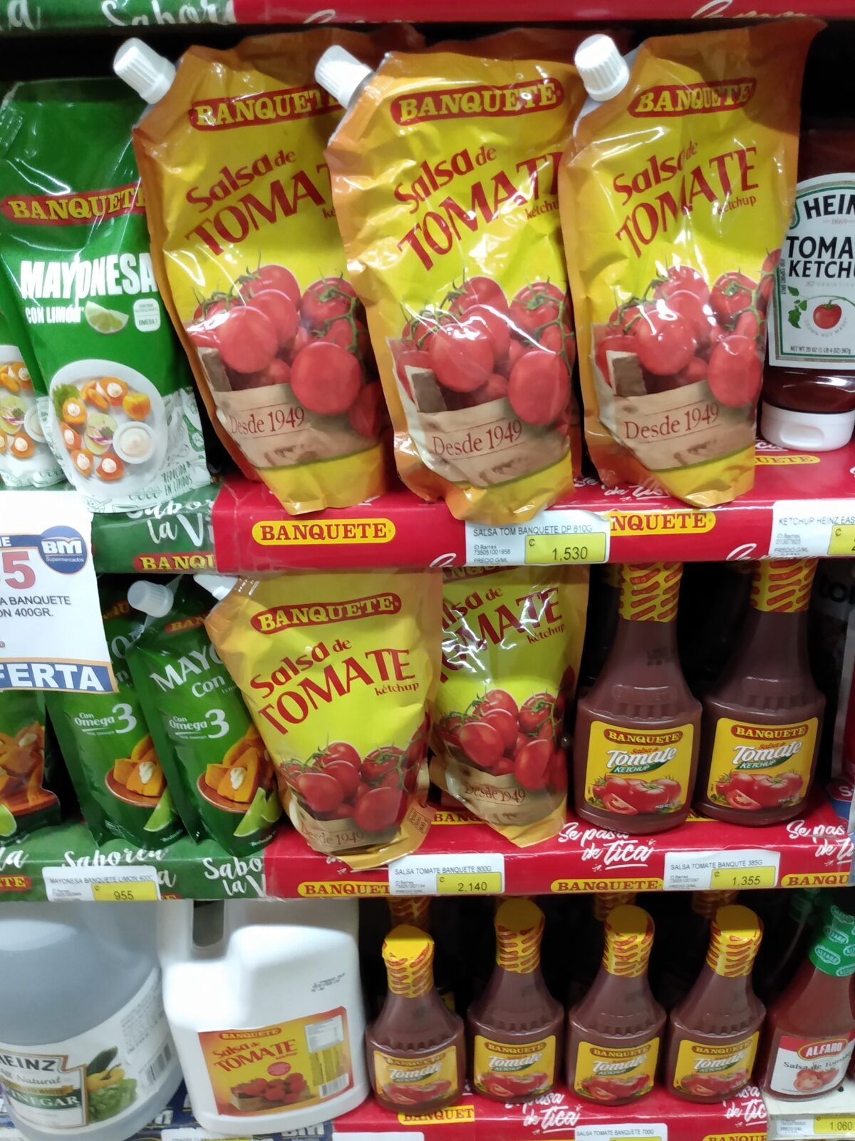 grocery shopping in uvita ketchup