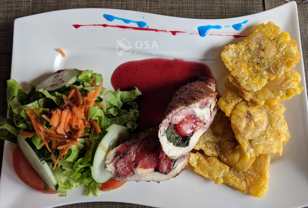 fusion restaurant ojochal pollo
