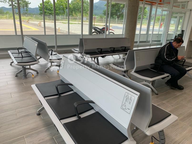 Palmar Sur airport departure lounge