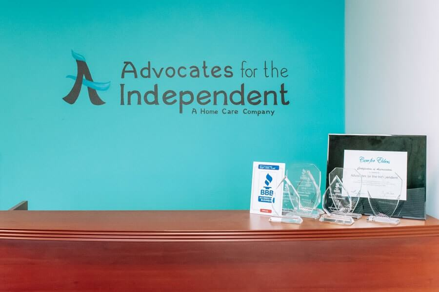 Reception desk at Advocates for the Independent