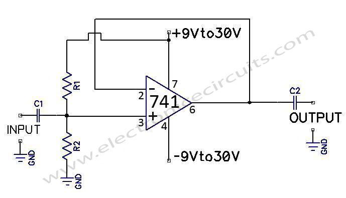 741-op-amp-ac-coupled-voltage-follower
