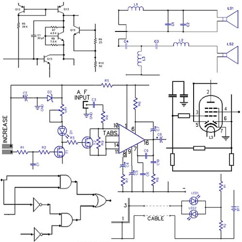 Electronic circuits diagrams design projects  free schematics