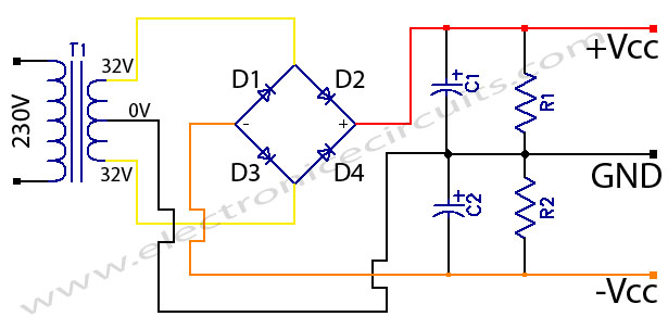 stk amplifier circuits power supply