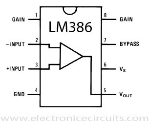 LM386 Connection Diagrams