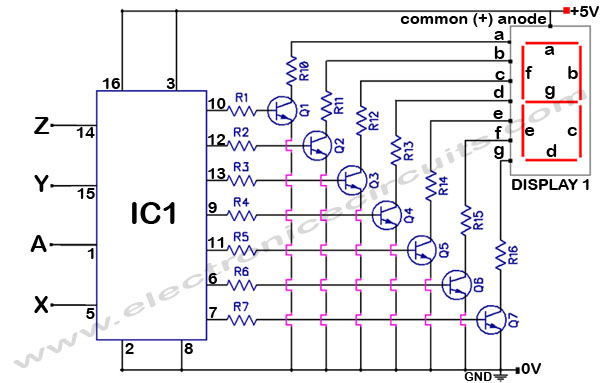 4033 7 segment counter second stage circuit