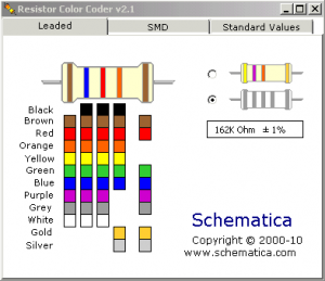 Resistor Color Code and SMD Calculator Coder Software
