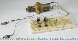 DC motor direction control circuit Clockwise Anticlockwise