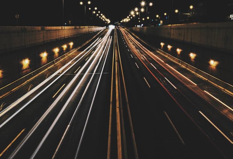 Road slow shutter