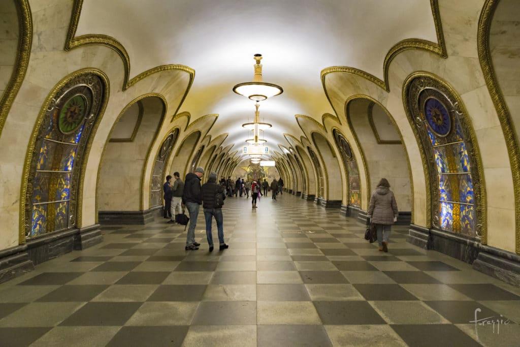 Novoslobodskaya Station   Moscow Metro   Russia