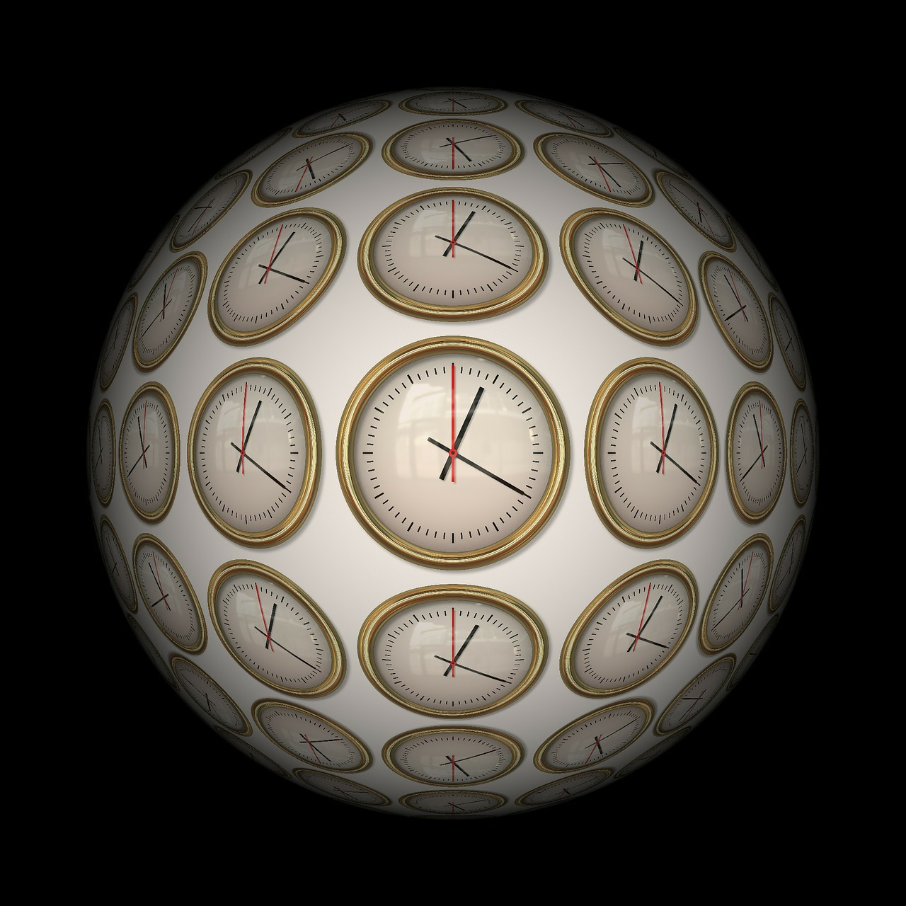 time, time indicating, ball