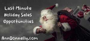 last minute holiday sales opportunities