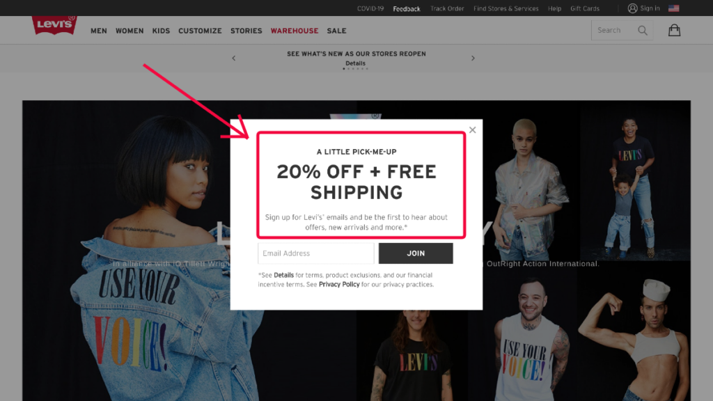 levi's ecommernce website