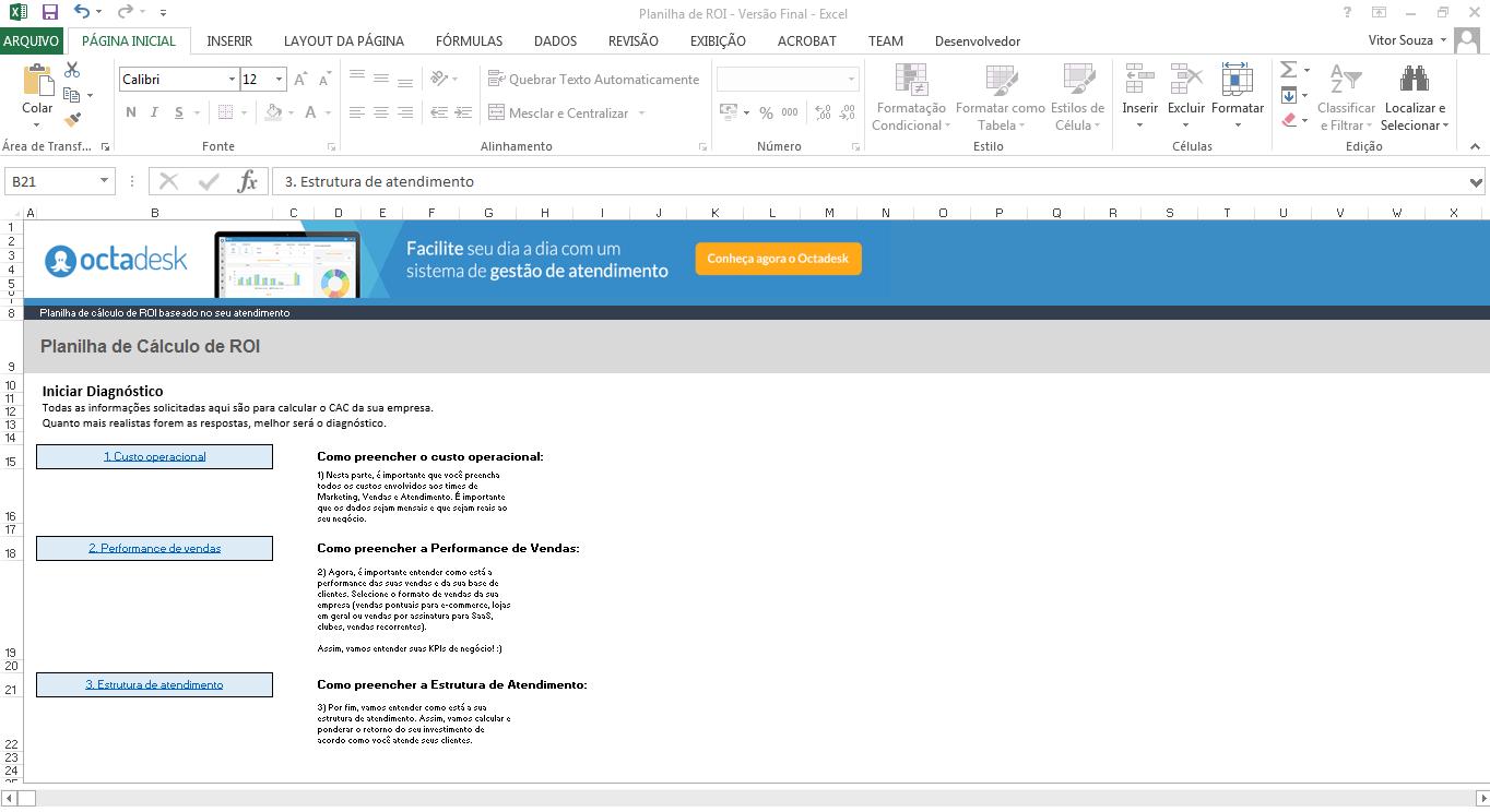 Calculadora de Roi - Como calcular o retorno sobre investimento - passo 1