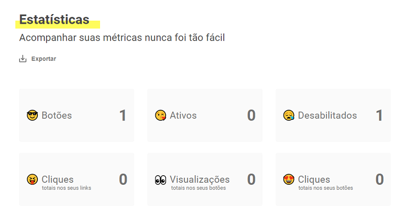 Dashboard do Octa Free
