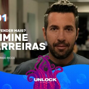 Rodrigo Ricco na capa do primeiro episódio do podcast Unlock, da Octadesk