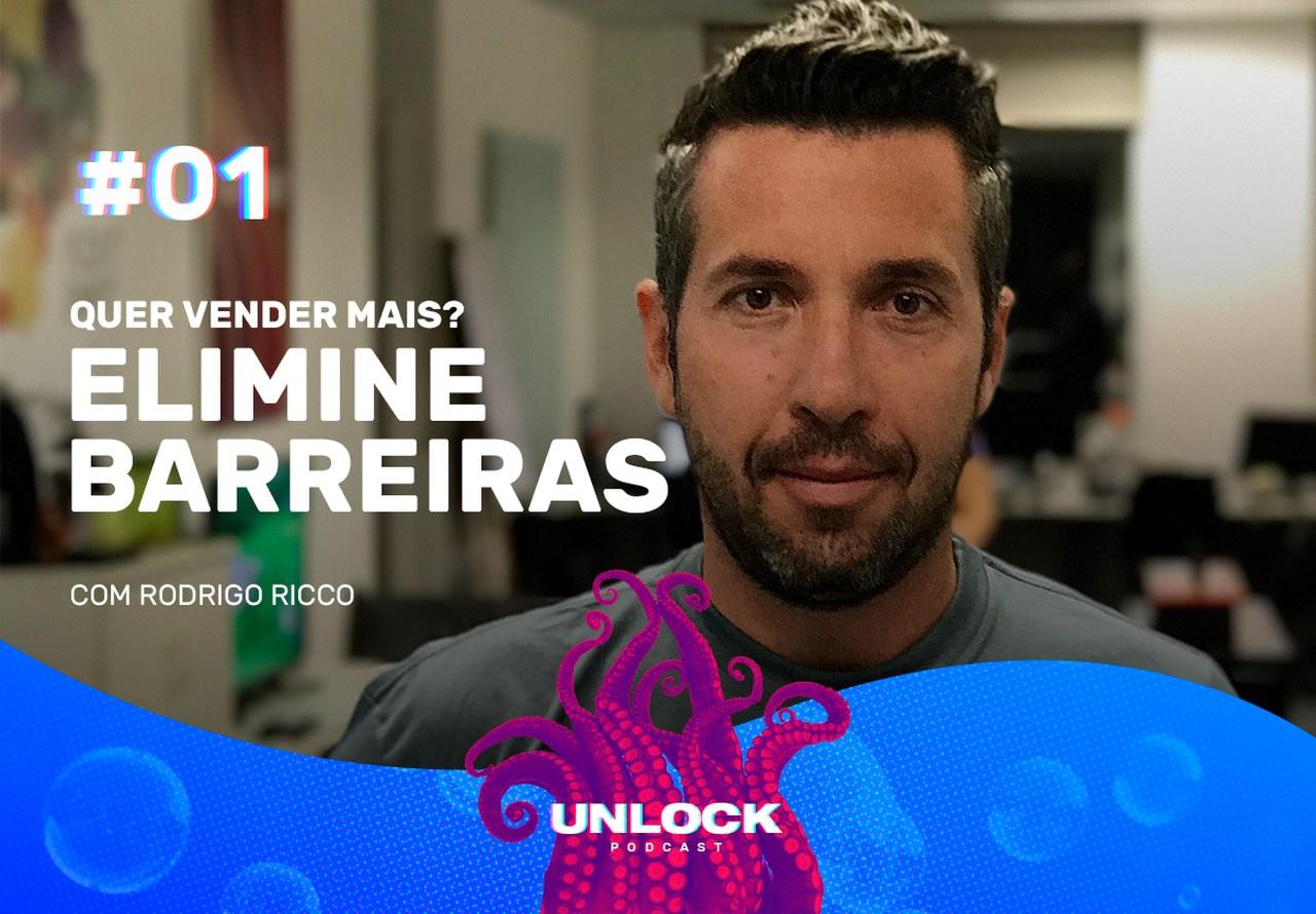 Rodrigo Ricco na capa do primeiro episódio do podcast Unlock, da Octadesk
