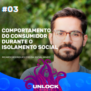 Ricardo Rodrigues na capa do podcast Unlock.