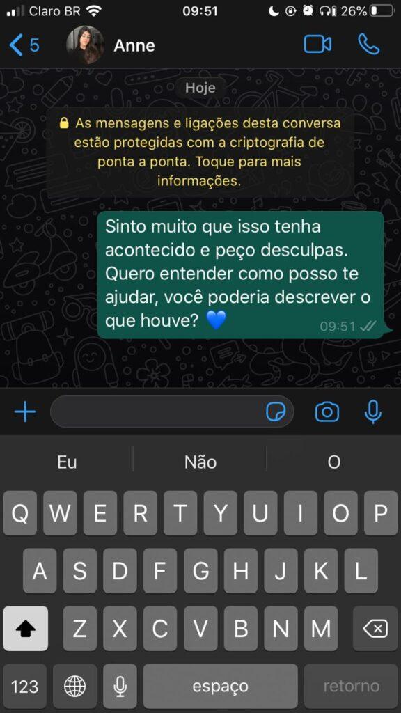 mensagem do Whatsapp para clientes irritados