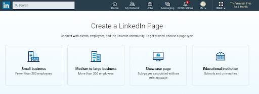 Objetivo da página comercial no Linkedin