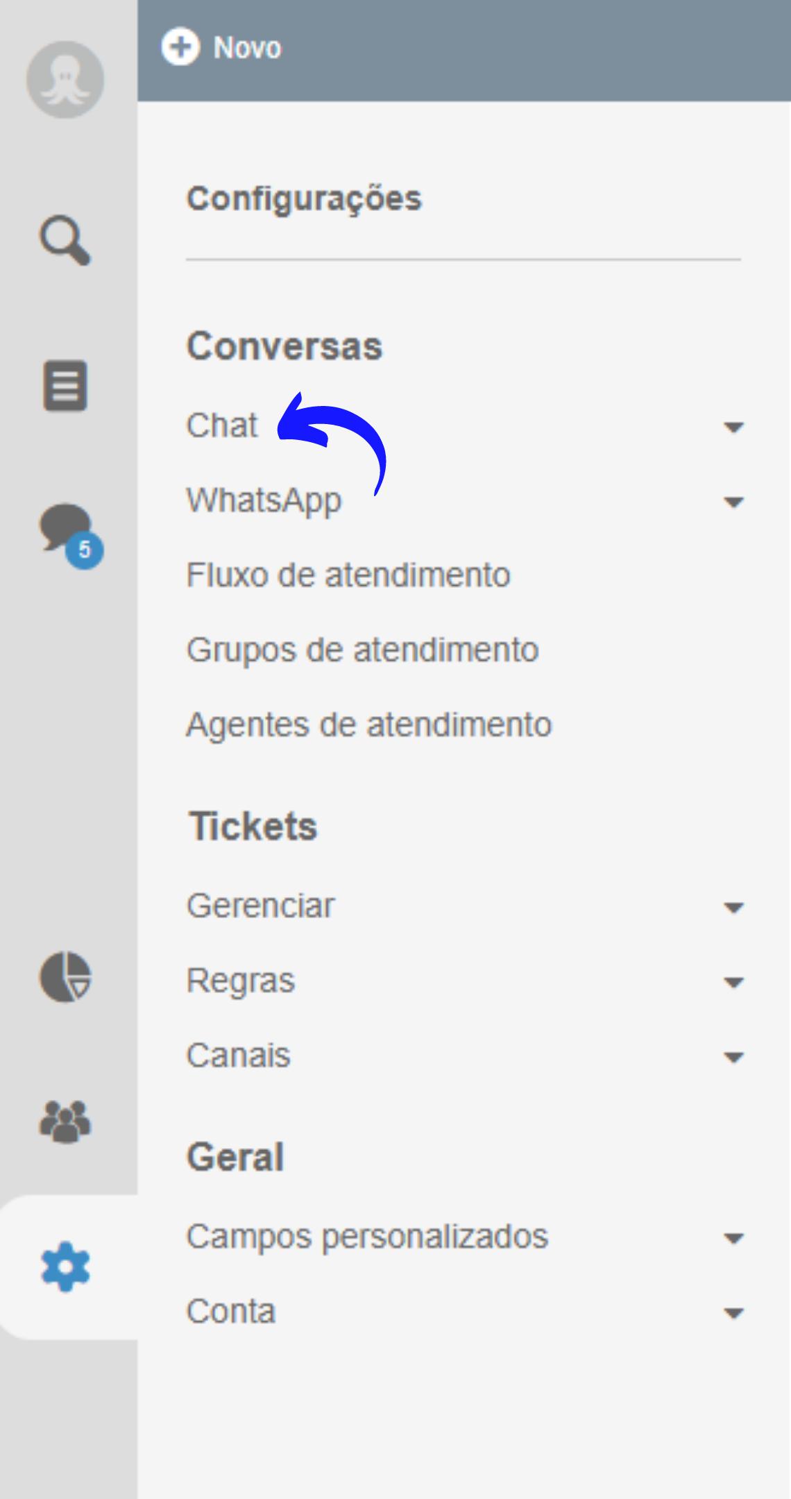 Criação de chat online no site com Octadesk