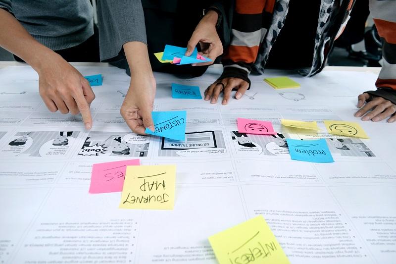 profissionais mapeando a jornada do cliente