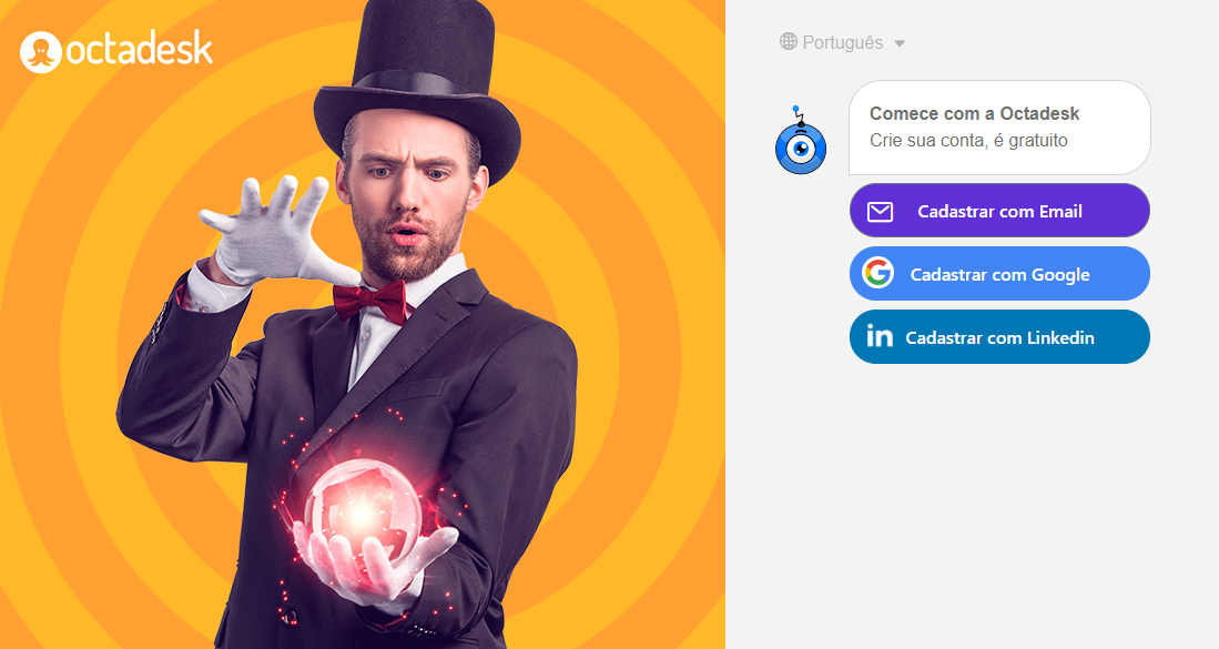 Login do Octadesk