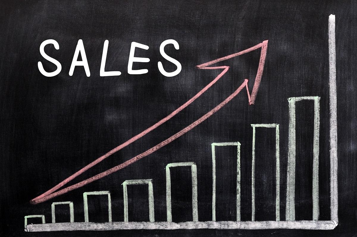 Gráfico representando o aumento de Sales engagement ou engajamento em vendas