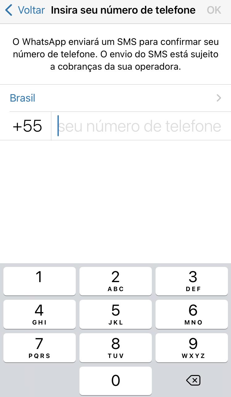 Colocar número fixo no whatsapp business