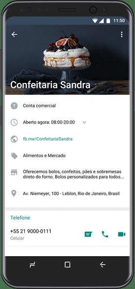 Perfil de empresa no WhatsApp Business