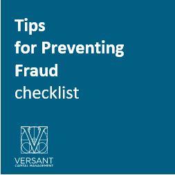 Tips for Preventing Fraud – Checklist