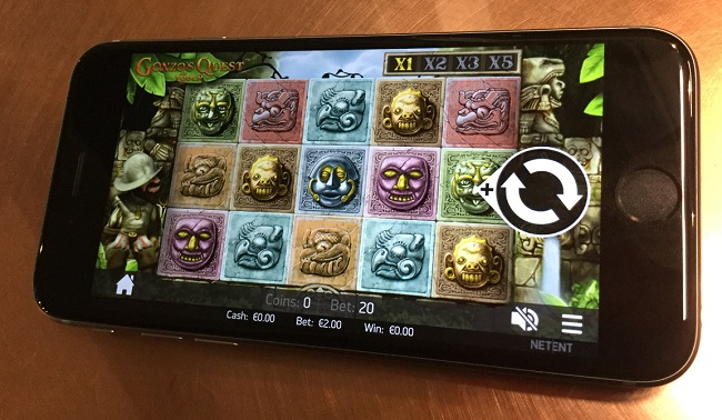 mobile slots qonzos quest iphone6