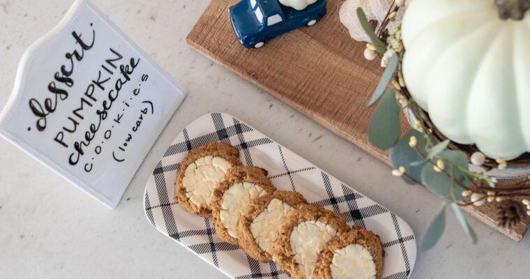 Pumpkin Cheesecake Cookies – Low carb, keto, gluten free