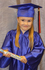 Little Girl in Cap and Gown