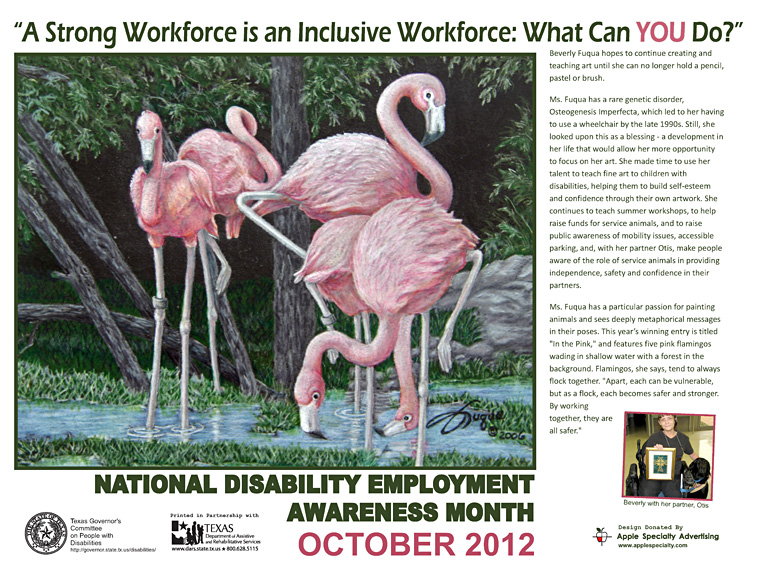 NDEAM Poster Art competition – Texas Artist with Disability