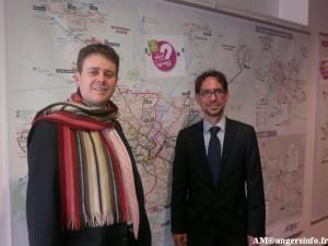 Luc Belot et Christophe Rineiri devoile les modification du réseau Keolis Angers