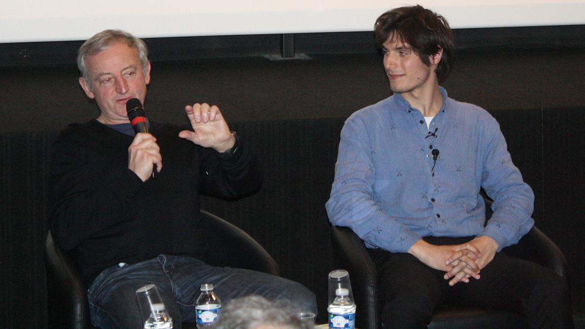 Yann Queffélec et Jérémy Kapone lors de la rencontre avec les collégiens.
