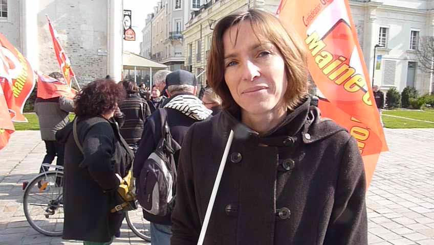 Credit RS - Magalie Lardeux, secrétaire départementale de SNUDI-Force ouvrière.